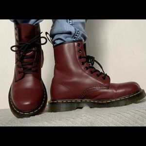 Dr. Martens AirWair Cherry Red Smooth Leather Boot